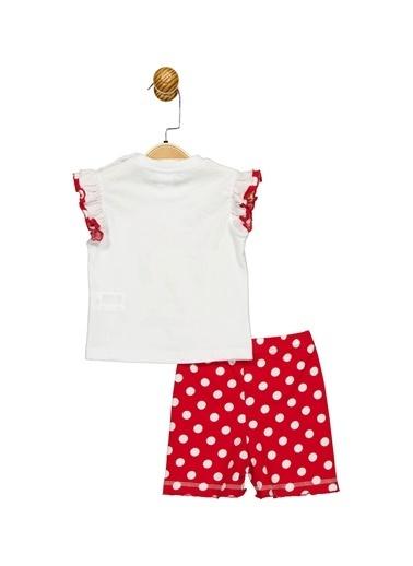 Minnie Mouse Lisanslı Bebek Takım 17355 Beyaz